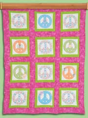 "Peace Signs 9"" Quilt Theme Blocks"