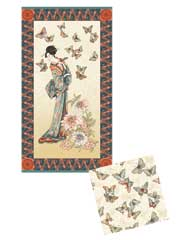 Teahouse Panel & Coordinating Fabric