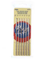 Steel Crochet Hook Set, Sizes 0, 1, 7, 8, 9, 10