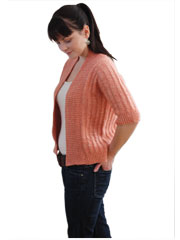 Spring Ribbed Cardigan Knit Pattern