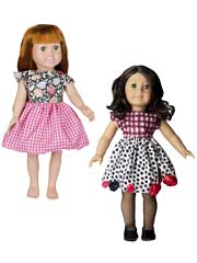 "18"" Doll Party Dress Sewing Pattern"