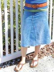 Upcycled Jean Skirt-Tutorial Sewing Pattern