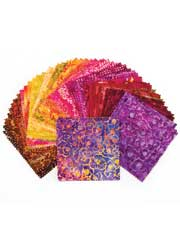 Over the Rainbow Batik Charm Pack-60/pkg.