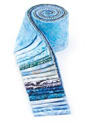 Blue Lagoon Batik Jelly Roll-20/pkg.