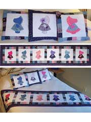 Sunbonnet Sue Bed Runner & Pillows Pattern