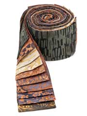 Chocolate Truffle Batik Jelly Roll-20/pkg.