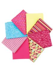 Cotton Wood Pink Fat Quarters-8/pkg.