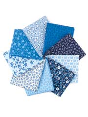 Just Blues Fat Quarters-9/pkg.