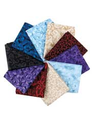 Rose Bouquet Fat Quarters-10/pkg.