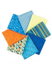 Cotton Wood Blue Fat Quarters-8pkg.