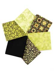 Sarah's Garden Green Fat Quarters-6/pkg.