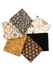 Sarah's Garden Brown Fat Quarters-6/pkg.