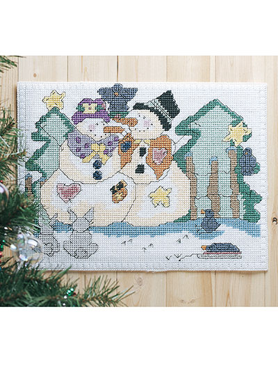 Snow Friends in Plastic Canvas