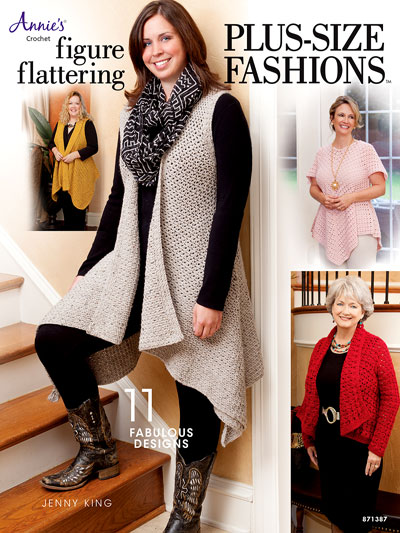 Figure Flattering Plus-Size Fashions Crochet Pattern Book