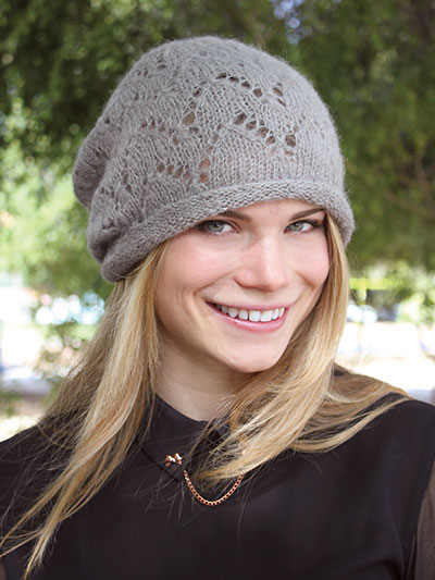 Wigwam Lace Hat Knit Pattern