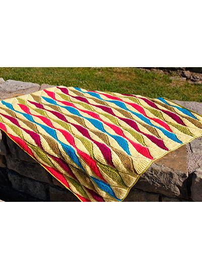 Half Leaf Blanket Knit Pattern