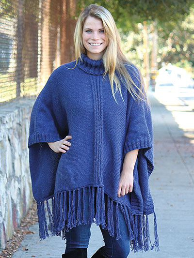 Dungaree poncho knit pattern