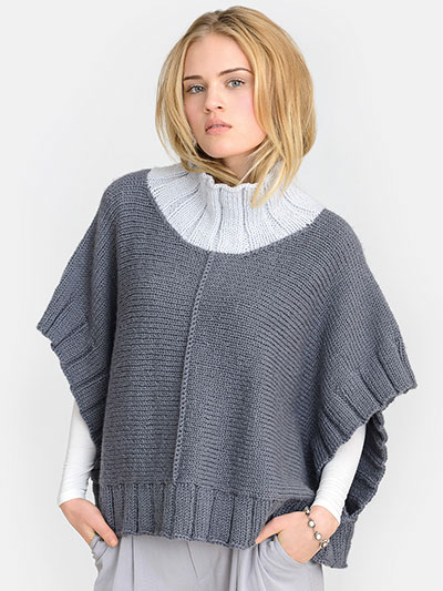 Two harbors poncho knit pattern