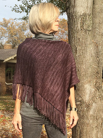Fringe Benefits Poncho pattern