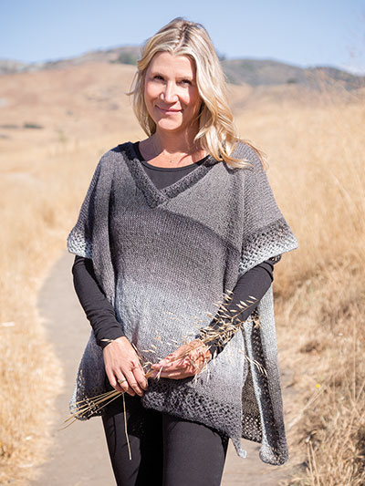 Moonstone poncho knit pattern