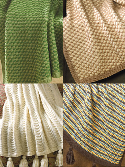 Textured Afghans Knit Pack
