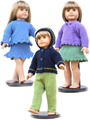 "18"" Doll Sweaters Collection Three Knit Pattern"