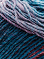 Noro Kureyon Yarn in Blue, Pink, Yellow