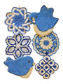 Vintage Blues Pot Holder Pattern Pack