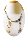 Jet Amethyst Flower Necklace Kit