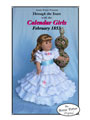 "February 1853 Calendar Girl for 18"" Dolls"