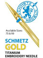 Schmetz Gold Embroidery Needles