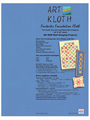 Art Kloth Foundation Cloth with No-Sew Quilt Pattern